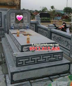 Mẫu mộ đá khối tự nhiên đẹp bán tại Gia Lai 08 – Mộ đá Ninh Bình