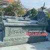 Mẫu mộ đá xanh Thanh Hóa đẹp bán tại Kon Tum 05 – Mộ đá xanh rêu Thanh Hóa