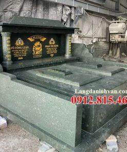 Bán các mẫu mộ đá xanh rêu Thanh Hóa đẹp